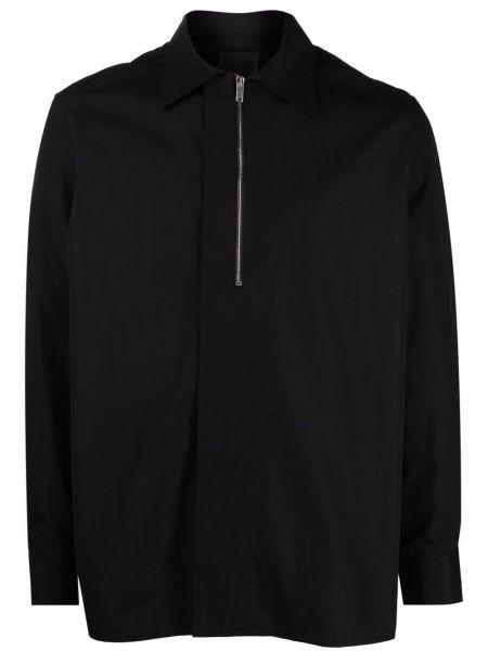 Koszula z długimi rękawami - czarna Givenchy
