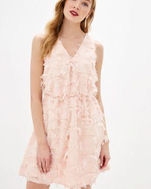 Вечернее платье розовое осеннее Befree