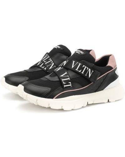 Черные кроссовки комбинированные Valentino