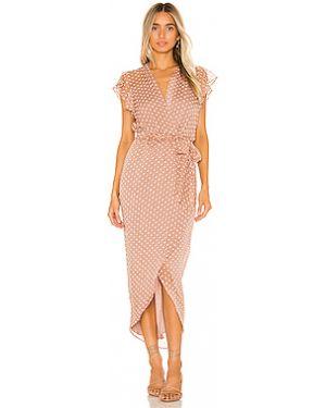 Платье миди с вышивкой шифоновое Amanda Uprichard