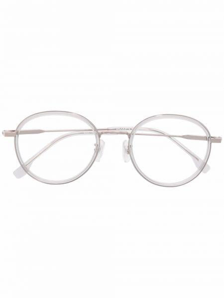 Białe okulary srebrne Boss Hugo Boss