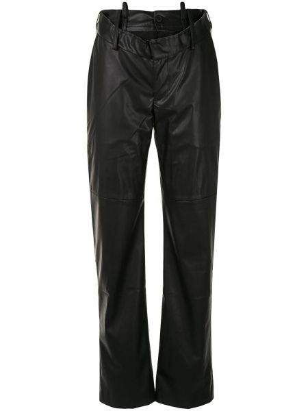 Шерстяные черные брюки на пуговицах Delada