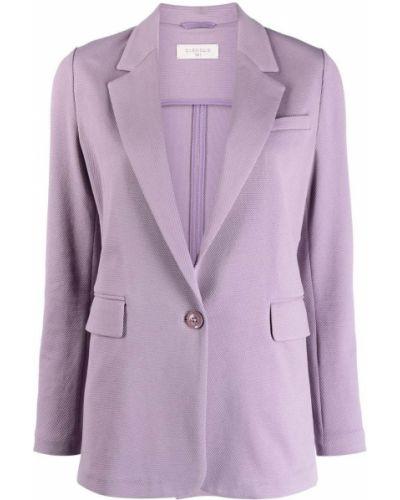 Фиолетовый однобортный удлиненный пиджак на пуговицах Circolo 1901