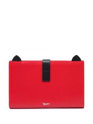 Красный кожаный кошелек с карманами Bapy By *a Bathing Ape®