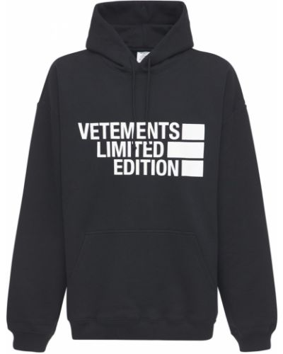 Хлопковое худи - черное Vetements