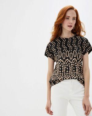 Блузка с коротким рукавом черная мадам т