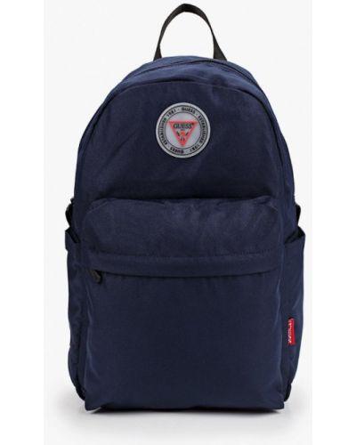 Текстильный синий городской рюкзак Guess