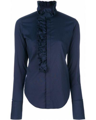 Синяя рубашка с оборками Ralph Lauren