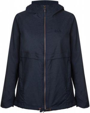 Синяя облегченная куртка с капюшоном на молнии свободного кроя Jack Wolfskin