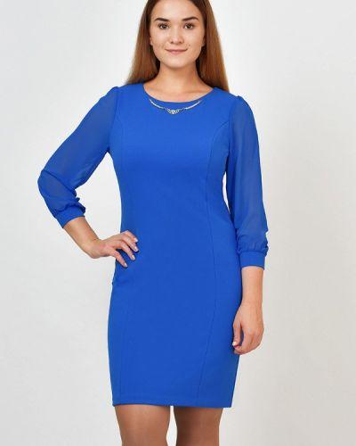 Повседневное платье осеннее синее Kontaly