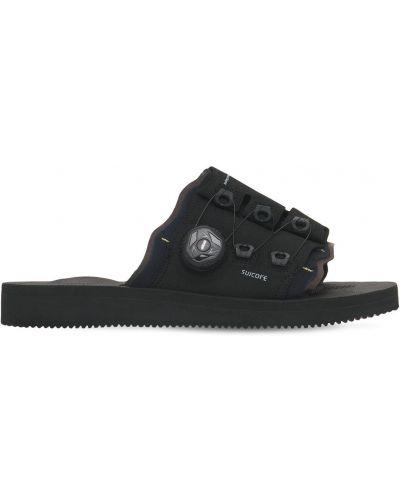 Czarne sandały z nylonu Suicoke