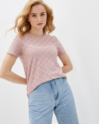 Розовая футболка с короткими рукавами Jacqueline De Yong