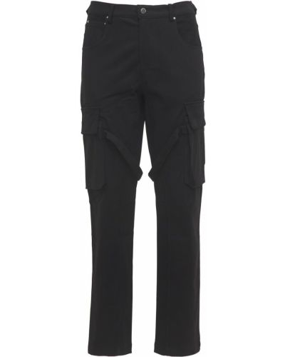 Czarne spodnie bawełniane Flaneur Homme