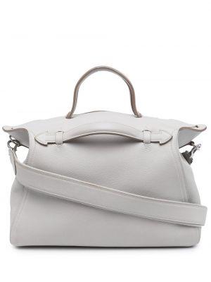 Biała torba na ramię skórzana Hermes