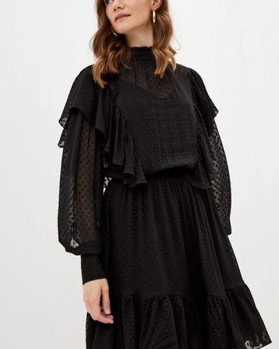 Черное зимнее вечернее платье Self Made