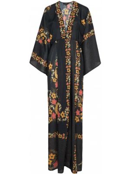 Платье макси с цветочным принтом с V-образным вырезом Celia Dragouni