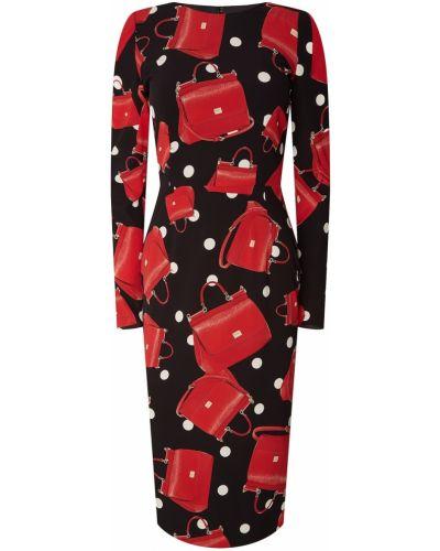 Платье миди в горошек классическое Dolce&gabbana