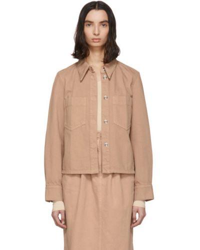 Джинсовая куртка длинная розовая Lemaire
