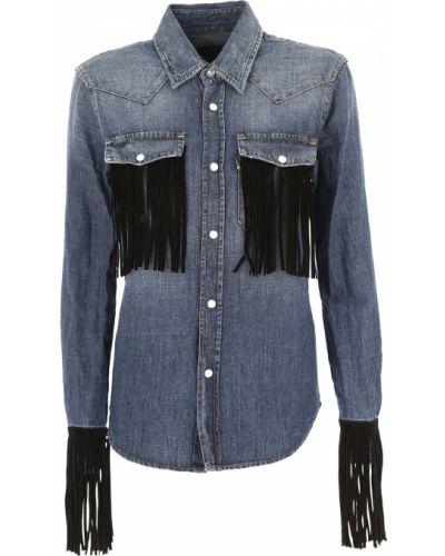 Bawełna bawełna z rękawami koszula jeansowa na przyciskach Department Five