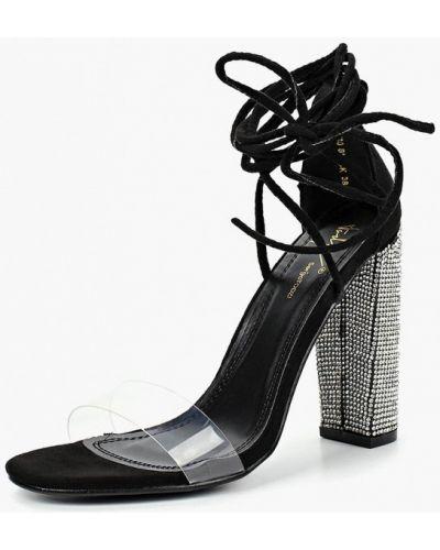 Босоножки на каблуке черные кожаные Sergio Todzi