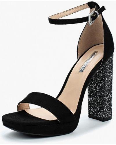 Черные замшевые босоножки на каблуке Inario