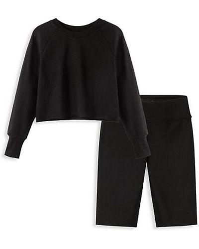 Prążkowane czarne szorty bawełniane Habitual