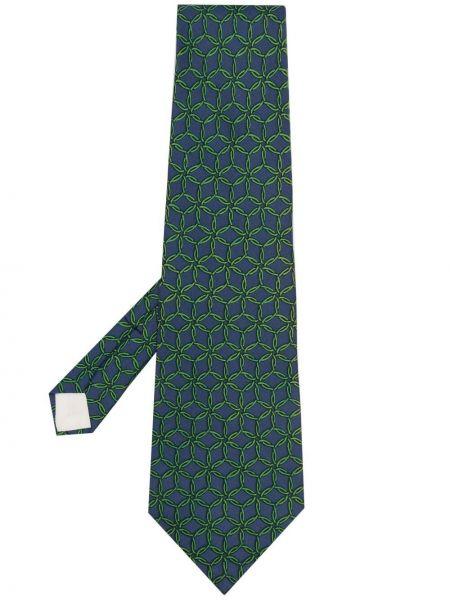 Синий галстук Hermès