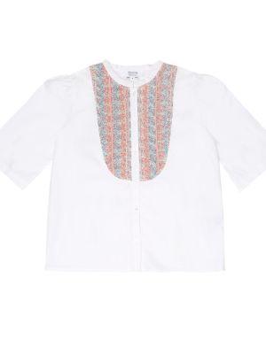 Biała koszula bawełniana Bonpoint