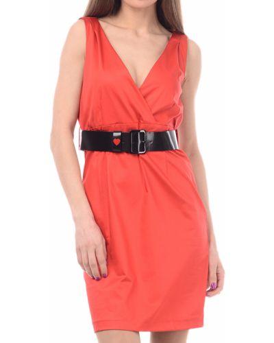 Платье весеннее красный Love Moschino