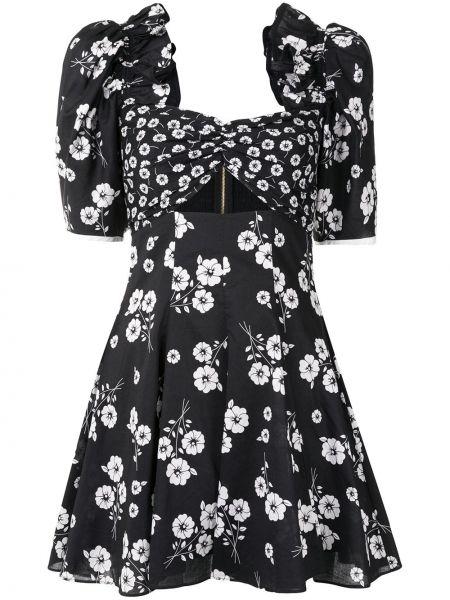 Черное расклешенное платье мини на молнии с вырезом Alice Mccall