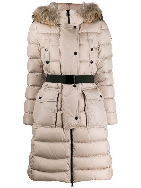 С рукавами куртка с капюшоном на молнии мятная с карманами Moncler