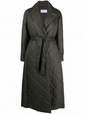 Zielony płaszcz pikowany Palto