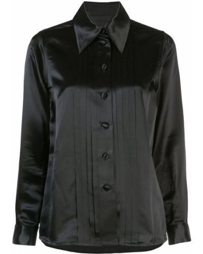 Рубашка с длинным рукавом черная на пуговицах Marc Jacobs