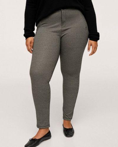 Серые брюки осенние Violeta By Mango