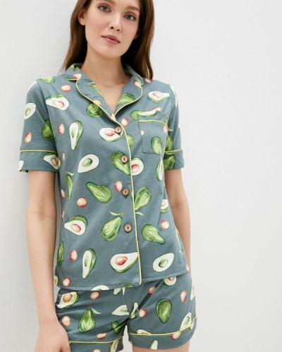 Костюмный зеленый домашний костюм Winzor