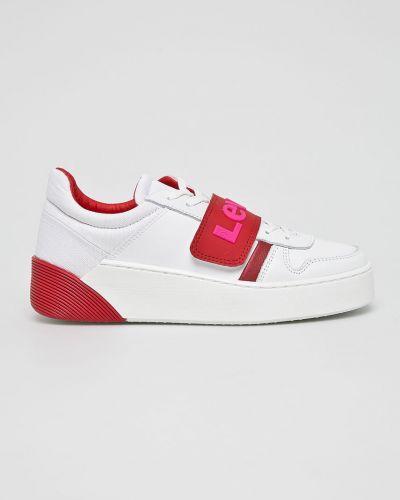 Коричневые текстильные кроссовки на платформе на шнуровке Levi's®