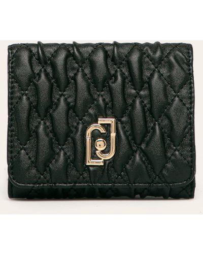 Кожаный кошелек на молнии черный Liu Jo