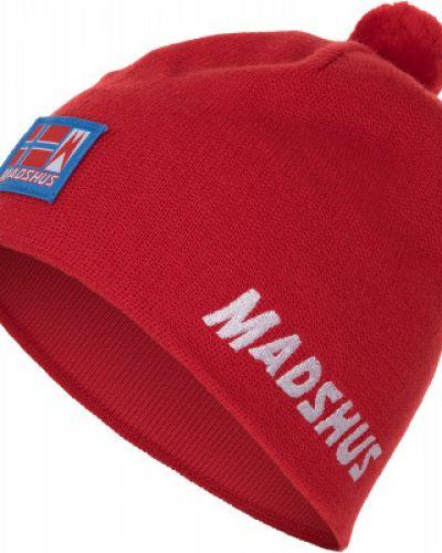 Шерстяная красная спортивная шапка для бега Madshus