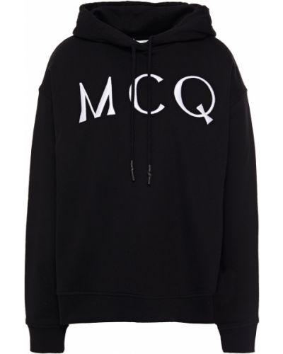 Черное худи с капюшоном с вышивкой Mcq Alexander Mcqueen