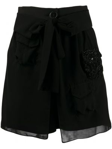 Черные короткие шорты с карманами Almaz
