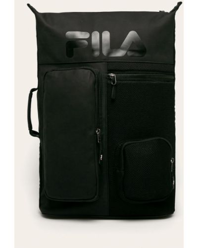 Czarny plecak na laptopa Fila