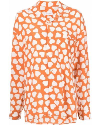 Оранжевая шелковая рубашка Equipment