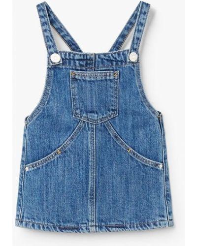 Синее платье Mango Kids