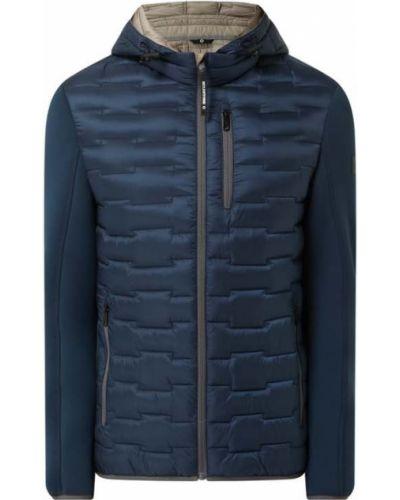 Niebieska kurtka pikowana z kapturem Milestone