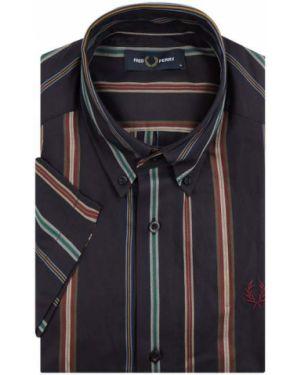 Koszula krótkie z krótkim rękawem w paski z logo Fred Perry