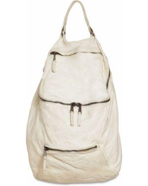 Biały plecak skórzany Giorgio Brato