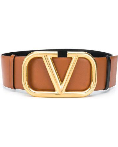 Czarny złoty pasek w paski Valentino