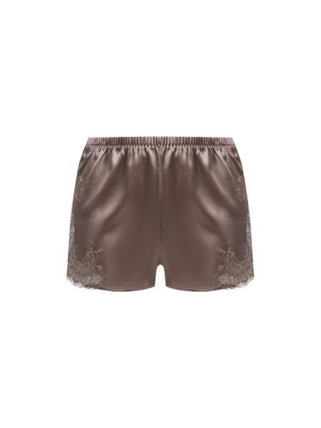 Нейлоновые коричневые облегающие короткие шорты прозрачные Cotton Club
