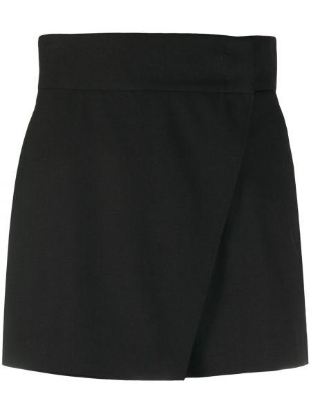 Шерстяные черные шорты с запахом Dorothee Schumacher