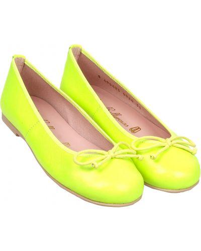 Желтые кожаные балетки Pretty Ballerinas